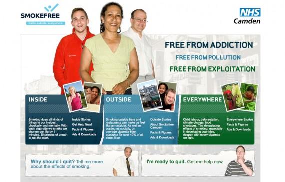 Camden Smokefree Homepage