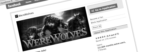 Facebook Werewolf Application